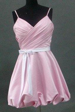 pink and white pink junior bubble skirt dress