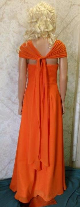 flame orange bridesmaid dresses