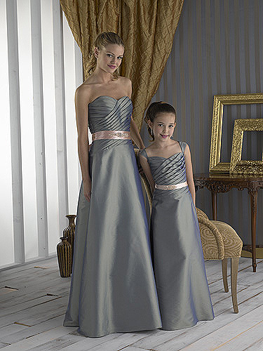 grey and pink cheap junior bridesmaid dresses