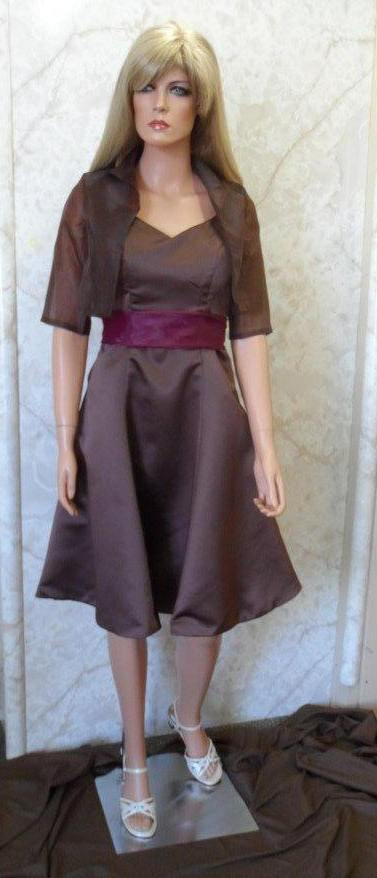 Chocolate and merlot  mother of the brides dress and jacket