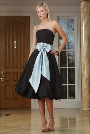 bridesmaid black bubble dress