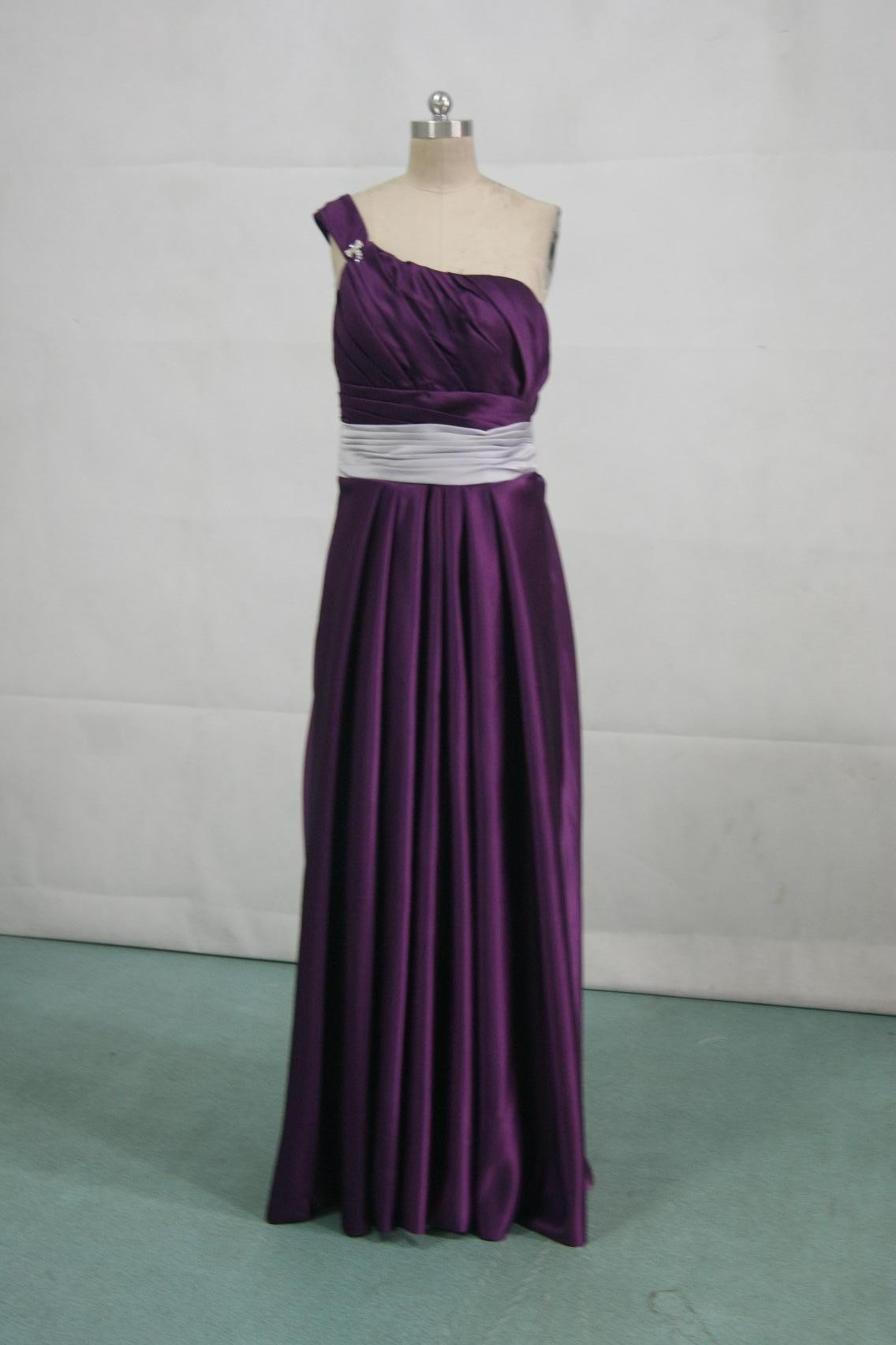 grape and silver bridesmaid dress
