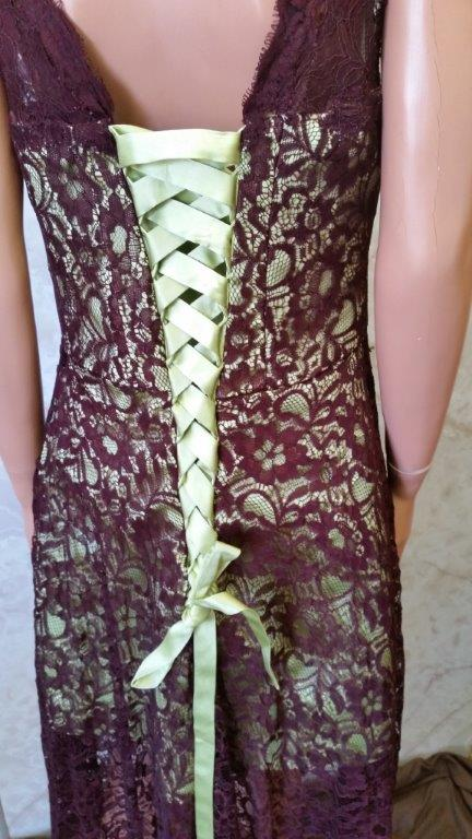 brown and green lace bridesmaid dresses