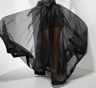 black illusion overskirt