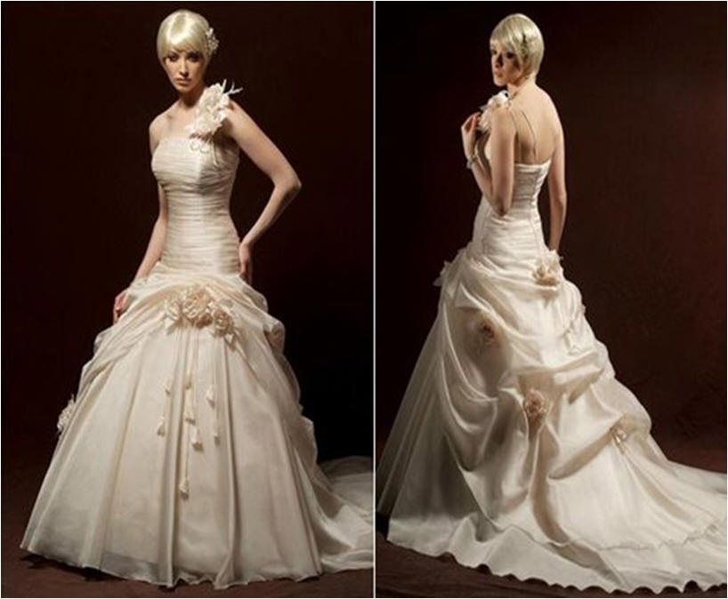 one arm wedding dresses