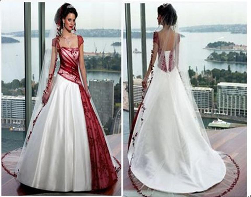 Wedding dresses: red and white wedding dresses