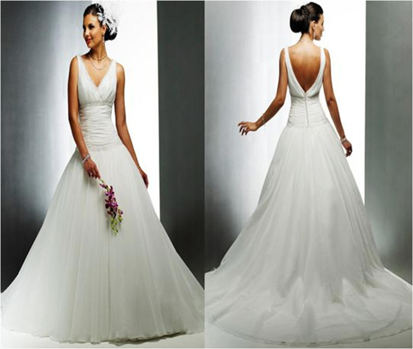 Wholesale - Beach Wedding Dresses Organza Sweetheart Neckline with