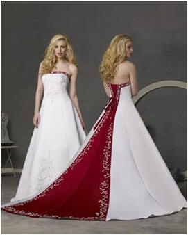 Colorful bridal gowns & Wedding Dresses With Color Accents