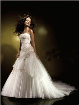 wedding dress ruffled