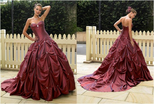 pick up bridal gown