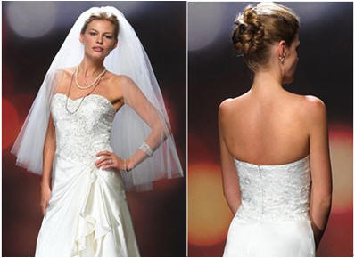 strapless brides dress