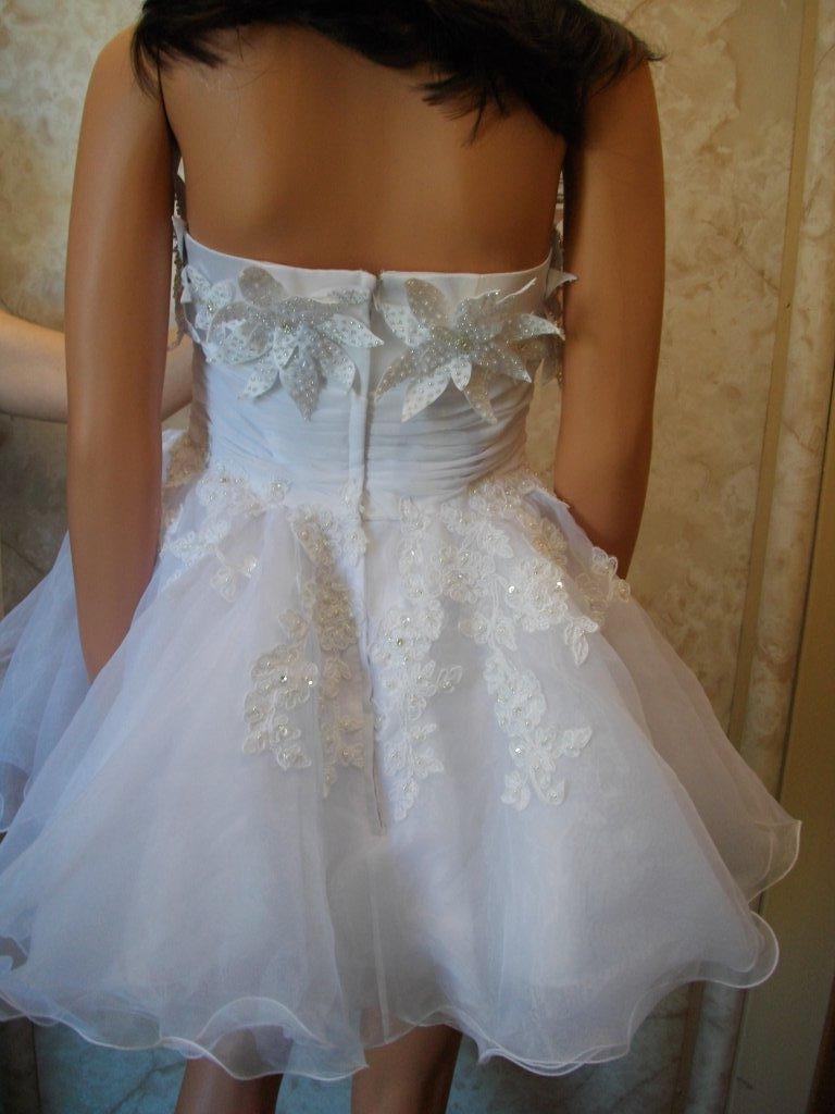 doll wedding dress with flowers