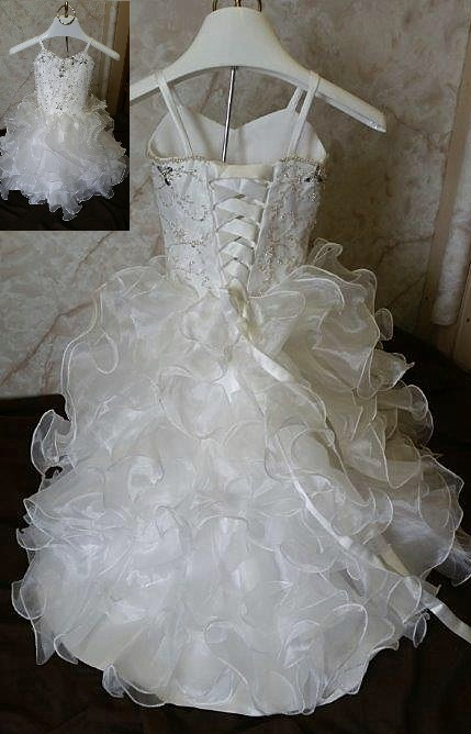 organza fit and flare gown