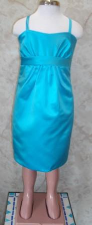 pool blue flower girl dress