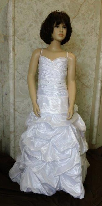 ruched pickup flower girl dress