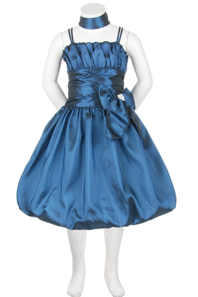 teal cheap flower girl dresses