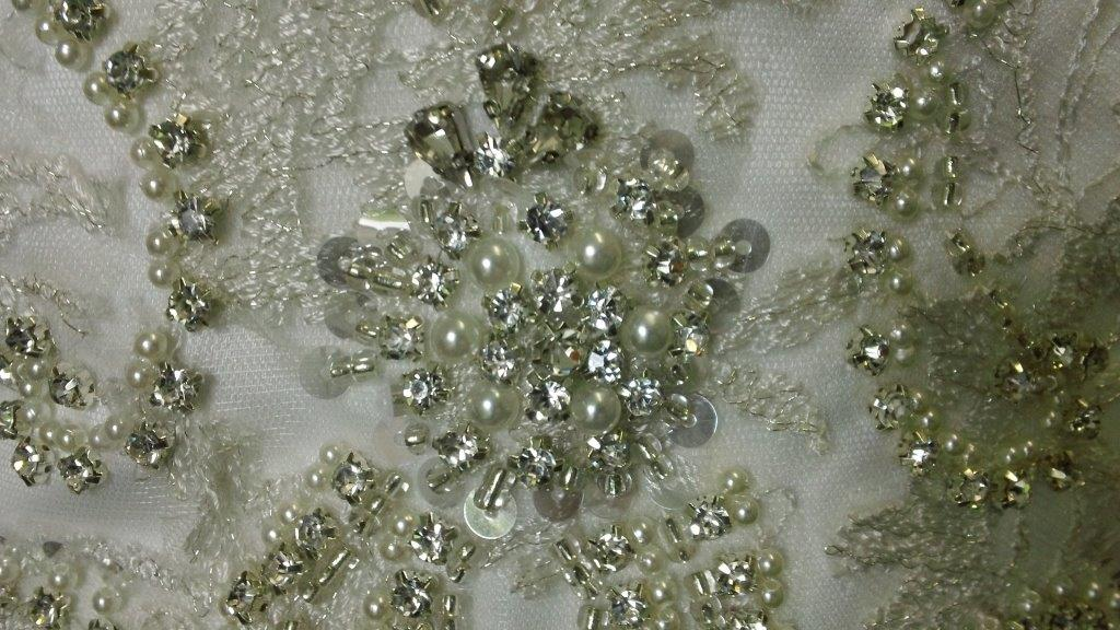 crystal and faux pearl beading