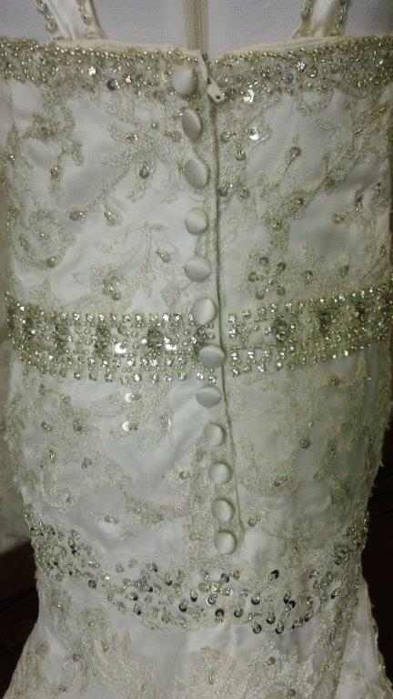 rows of pearl and crystal embellishments