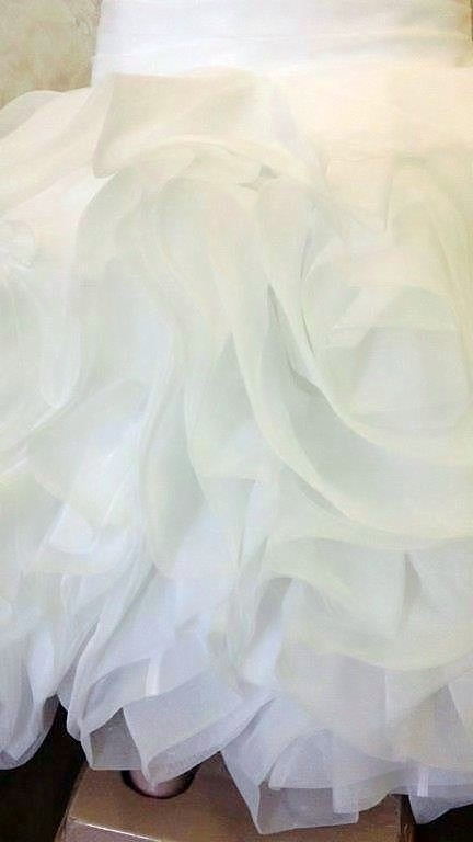 Organza ruffled flower girl skirt