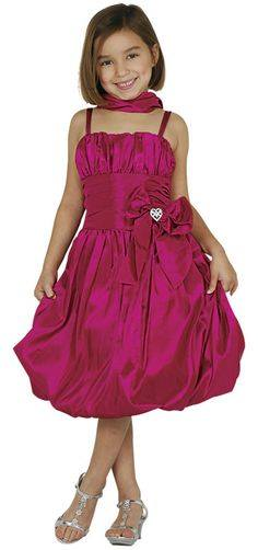 fuschia bubble dress