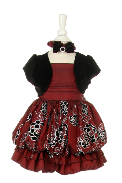 Wine toddler party dress