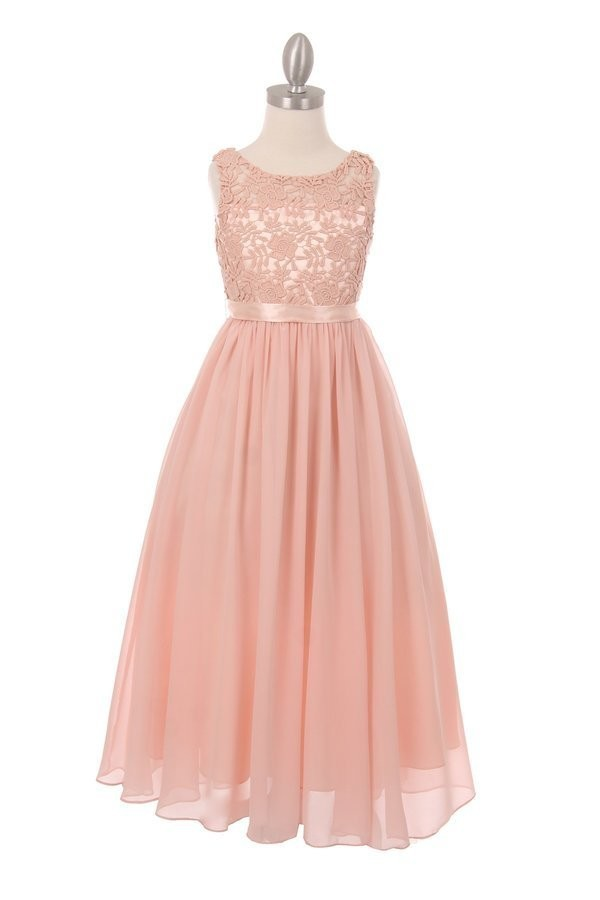 blush pink girls maxi dress
