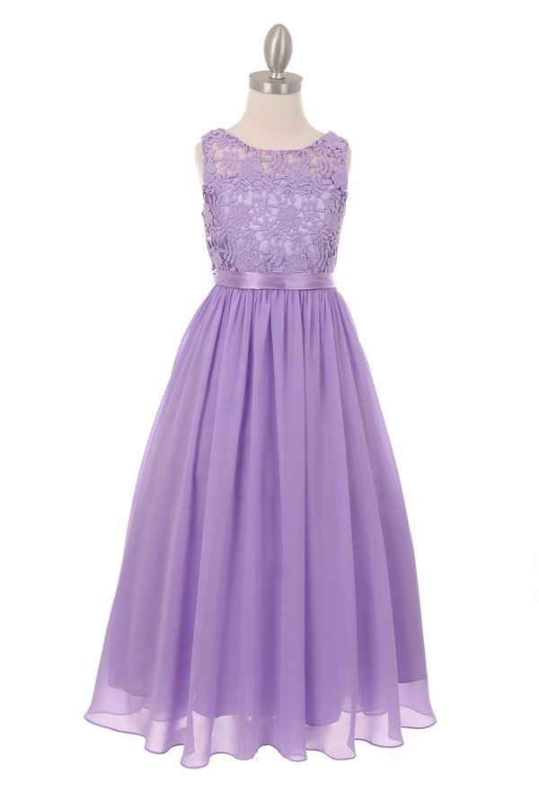 girls lilac maxi dress