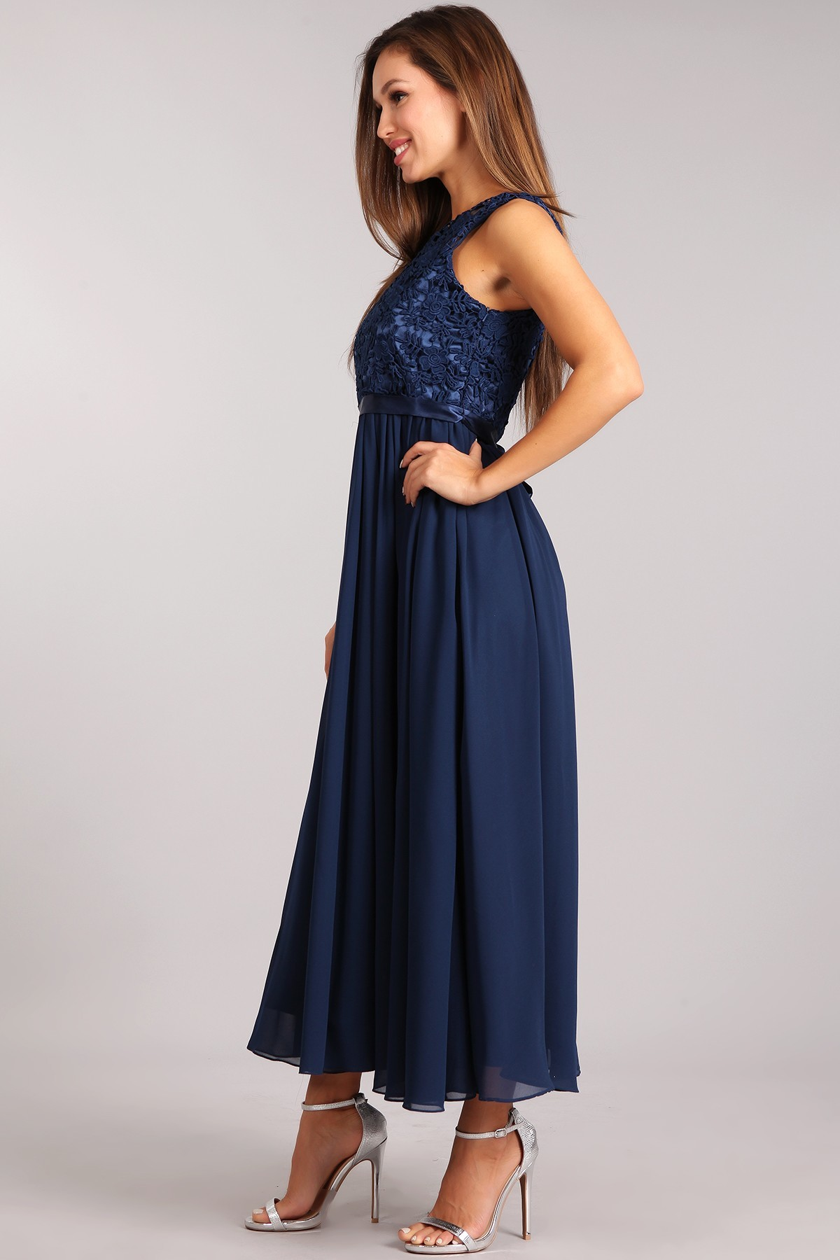 navy blue maxi dress casual