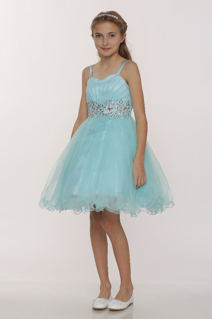 girls aqua dress