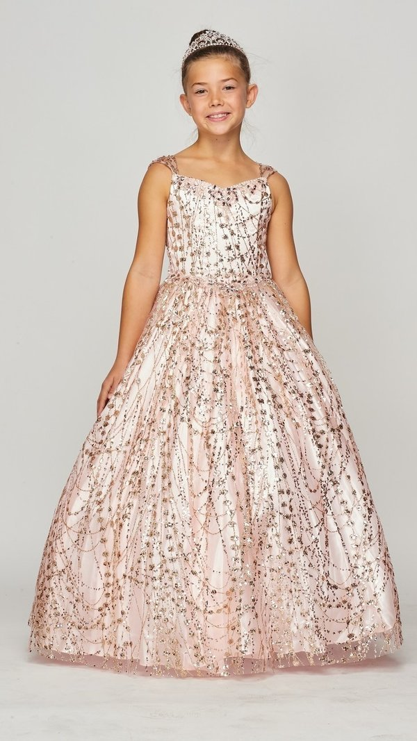 long rose gold glitter dress