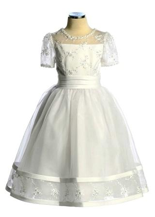 christening dress with sleeves