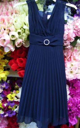 navy pleated size 2 dress