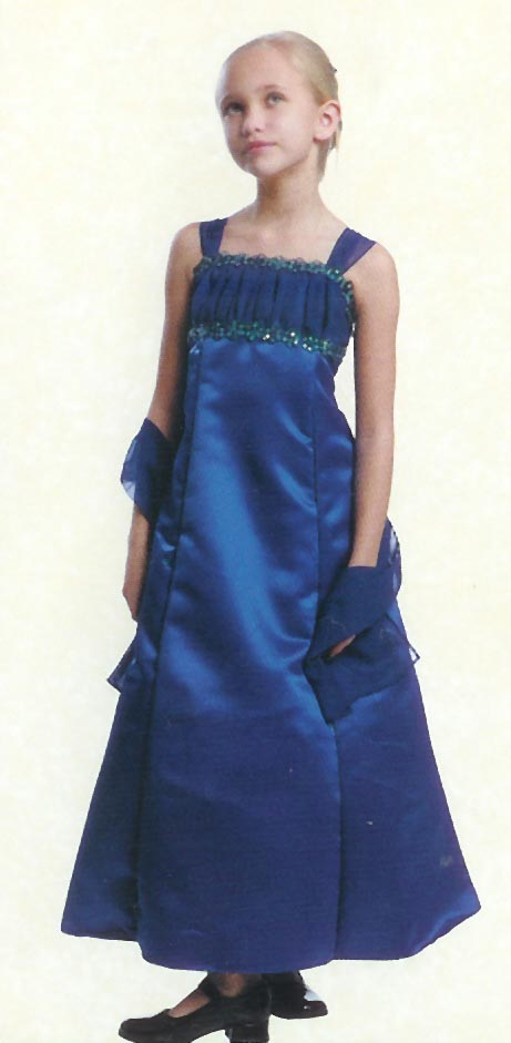 ruched long royal blue dress