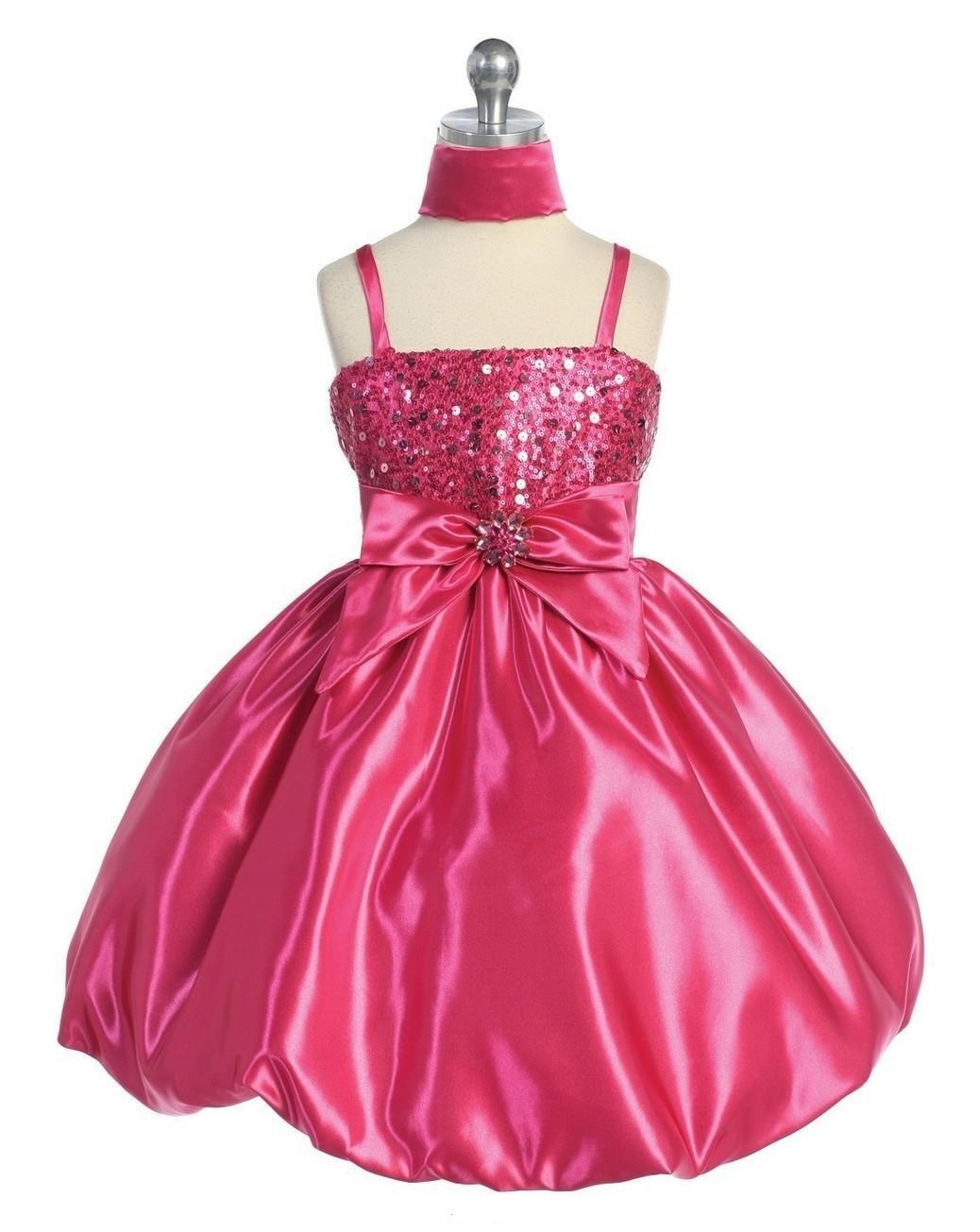 fuschia girls holiday dress sale