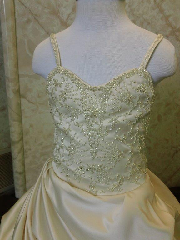 Sweetheart gown with elaborate hand beaded embroidery