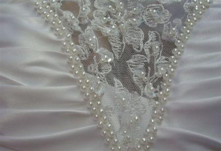 Lace and beading Bodice Inset