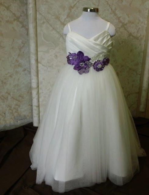dorothy dress light ivory with purple