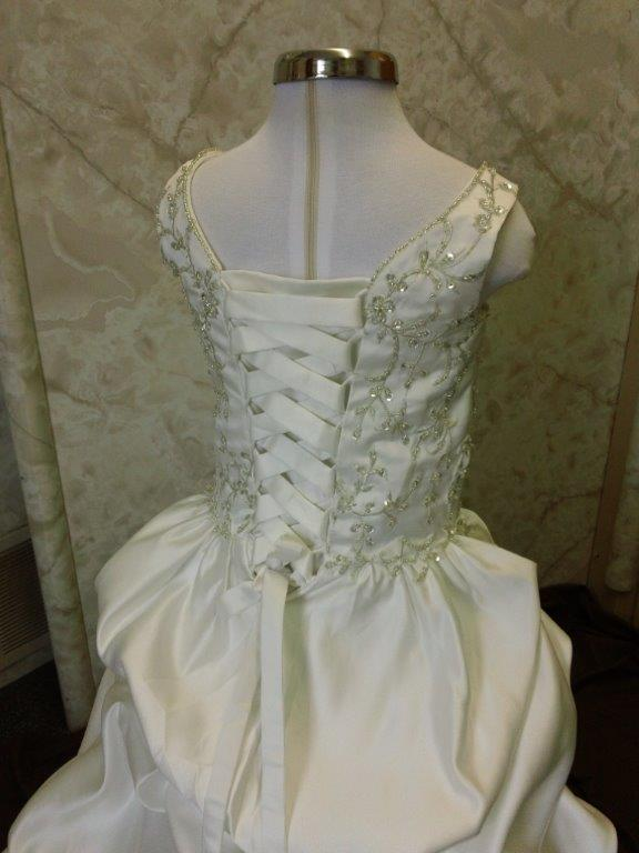 flower girl wedding dress embroidered flowers