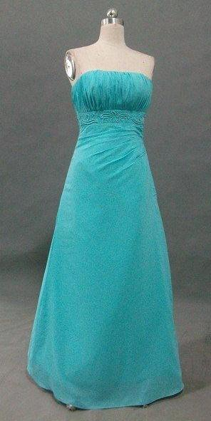 Turquoise Chiffon bridesmaid dress