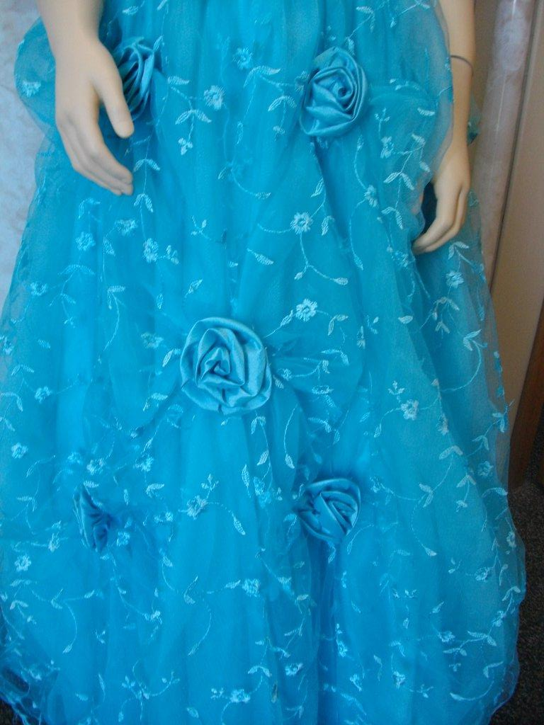 pool blue flower girl dresses