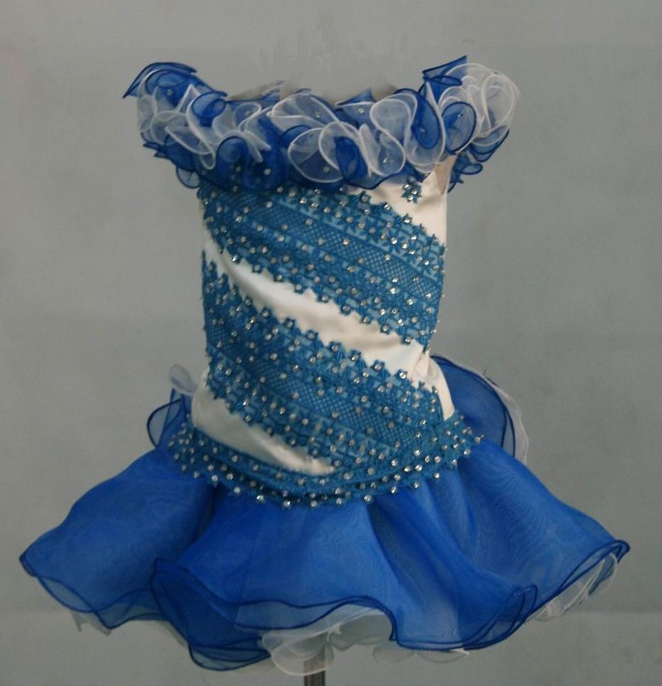 blue and white pageant cupcake dresses