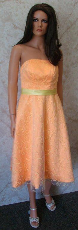 tangerine bridesmaid gown