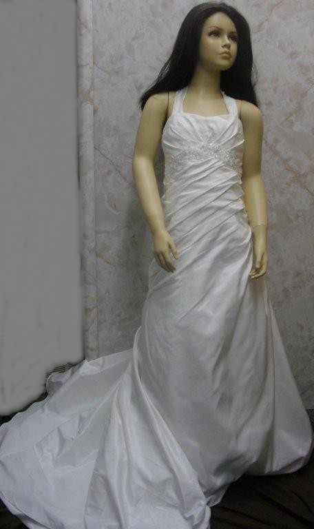 A Line Floor Length miniature wedding gown
