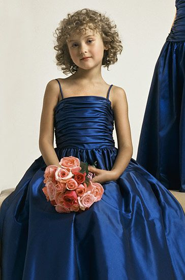 blue pageant dresses for girls