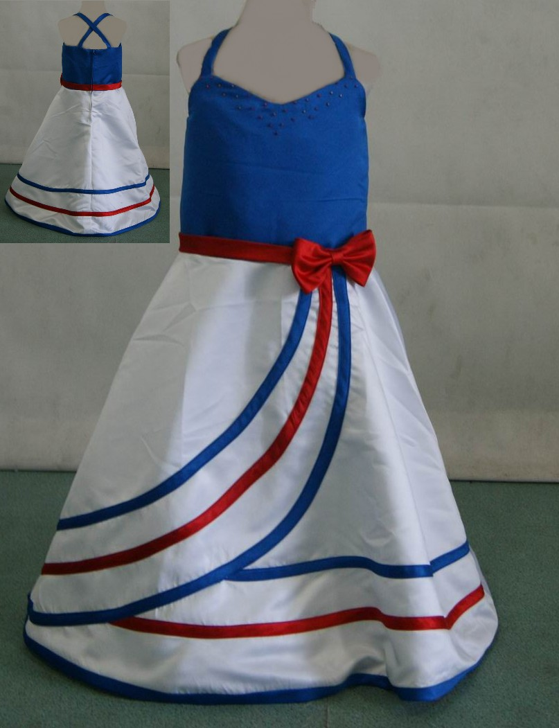 Red white and blue pageant dress