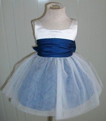 white and royal infant dress