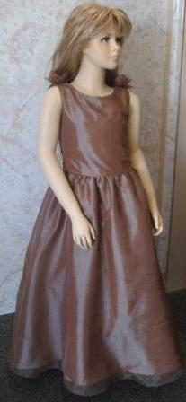 BROWN TAFFETA DRESS