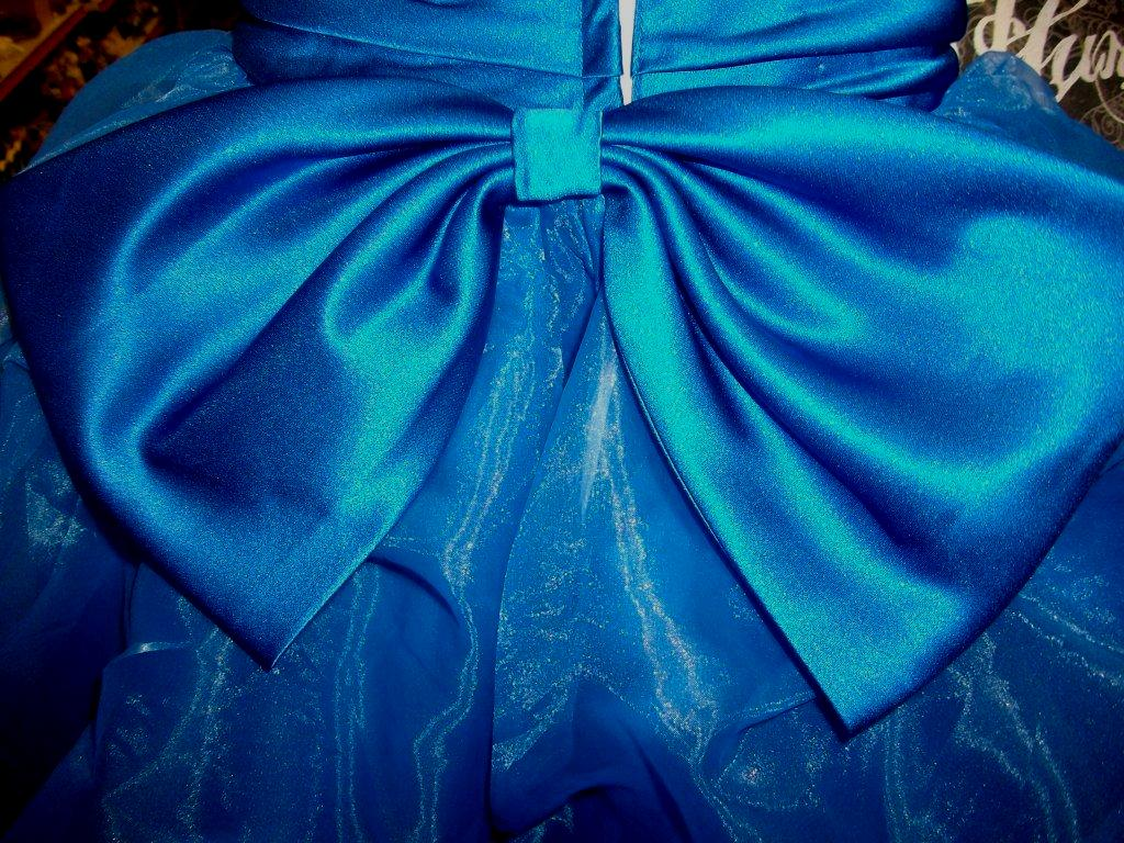 royal blue skirt and bow