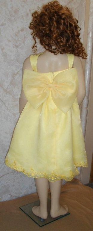 short yellow pageant dress