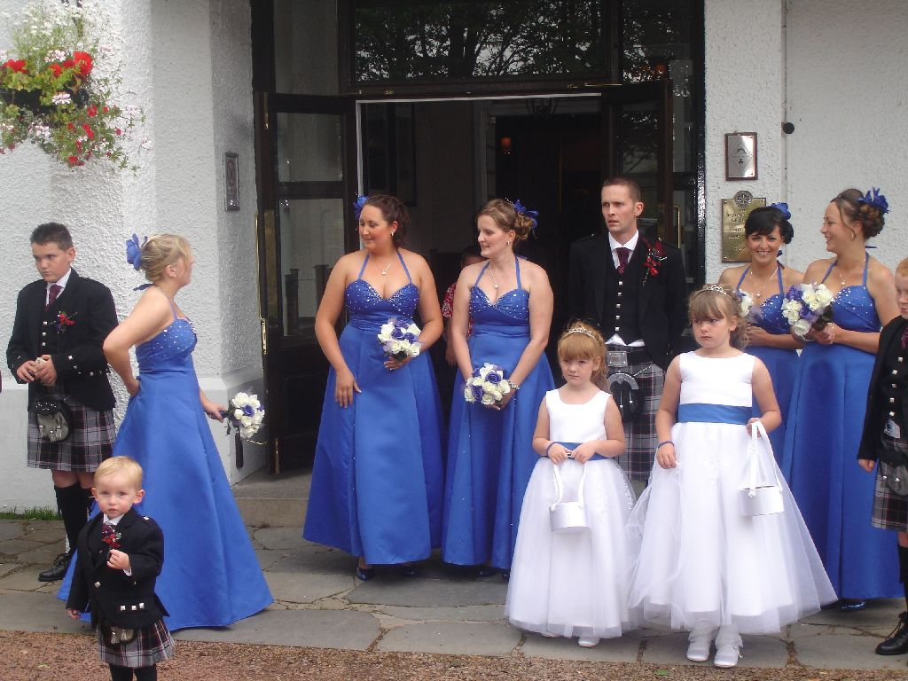 Scotland wedding in royal blue